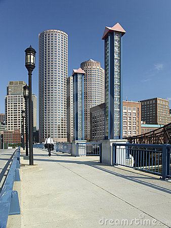 Free Walkway To Business District Stock Images - 5954334