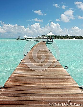 Walkway to paradise island