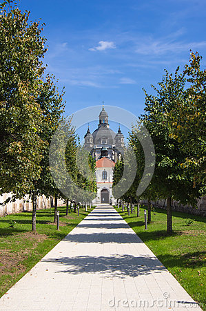 Walkway to the Pazhayslissky monastery, Kaunas