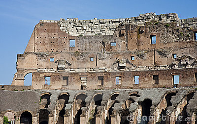 Wall of Ancient Coliseum