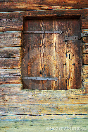 Wall of  ancient wooden barn
