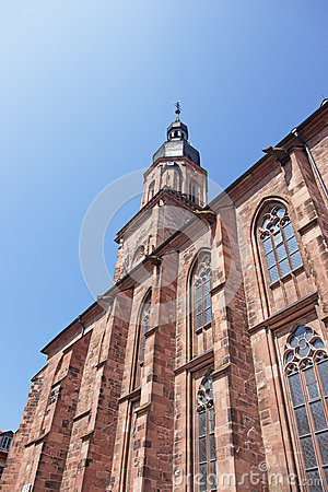Free Wall And Spire Of Cathedral Of Holy Spirit In Heidelberg Royalty Free Stock Photos - 52025078