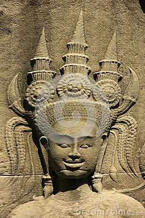 Wall bar-relief, Chau Say Tevoda temple, Angkor area