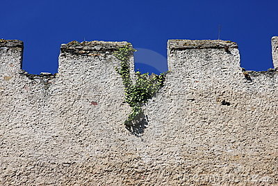 Wall with battlements, Austria, Europe