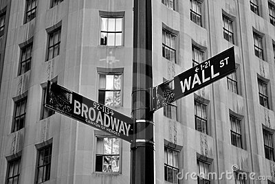 Wall and Broadway Editorial Photo