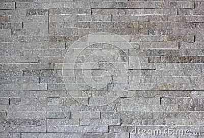Wall built of granite blocks
