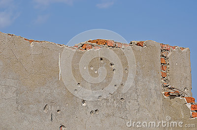 Wall with bullet-holes 4