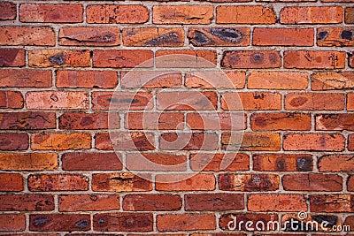 Wall with burned bricks