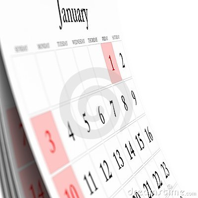 Free Wall Calendar Stock Photography - 11720122