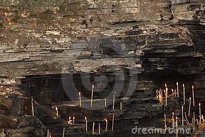 Wall with candles