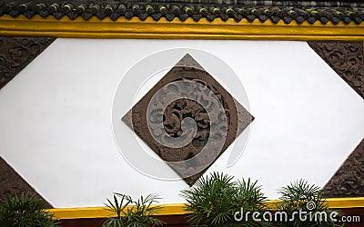 Wall Carvings Wenshu Yuan Temple China