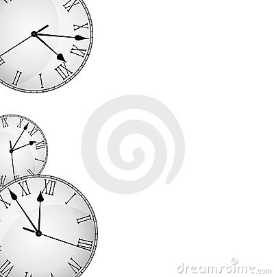 Wall Clock Border Frame Stock Photo Image 23991380