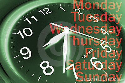 Wall Clock and Days