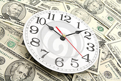 Wall clock and dollars