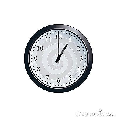 Free Wall Clock Set At 1 O`clock Stock Photo - 94681740