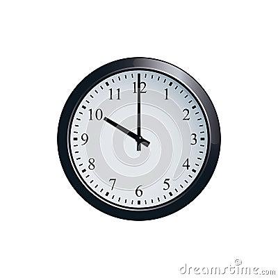 Free Wall Clock Set At 10 O`clock Royalty Free Stock Images - 94680459