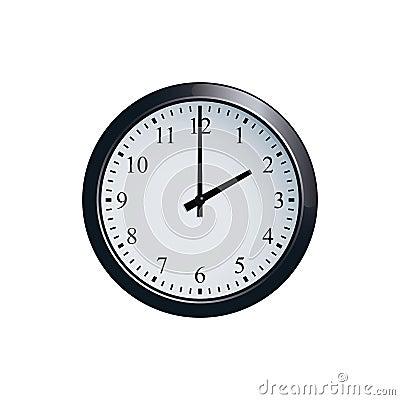 Free Wall Clock Set At 2 O`clock Stock Photo - 94678560