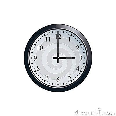 Free Wall Clock Set At 3 O`clock Stock Photography - 94680372