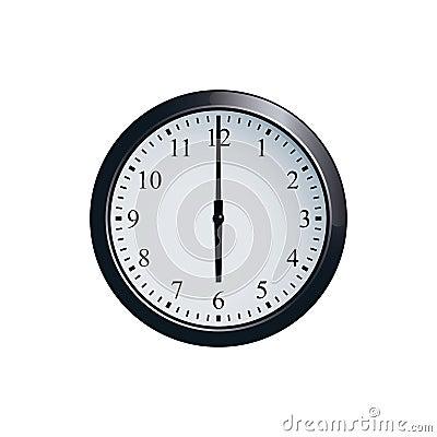 Free Wall Clock Set At 6 O`clock Royalty Free Stock Photos - 94680208