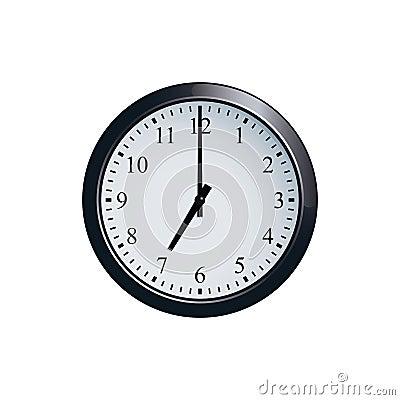 Free Wall Clock Set At 7 O`clock Stock Photography - 94679182