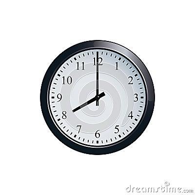 Free Wall Clock Set At 8 O`clock Stock Image - 94680681