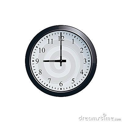 Free Wall Clock Set At 9 O`clock Royalty Free Stock Photo - 94679295