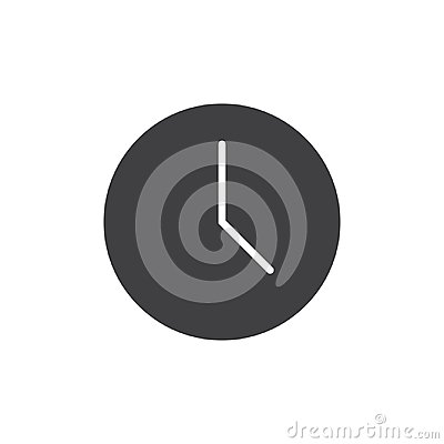 Wall clock vector icon Vector Illustration