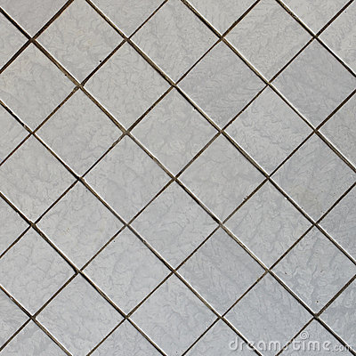 Wall Covered With Tile Diagonal Square Texture Royalty