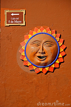 Wall Decoration Sun Mexico Stock Photography Image