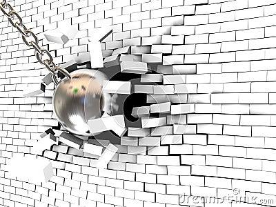Wall destruction