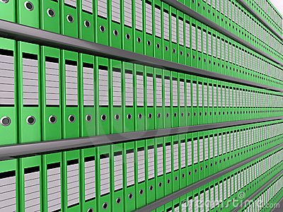 Wall of files