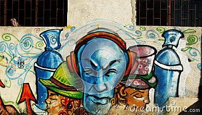 Wall graffiti Editorial Photography