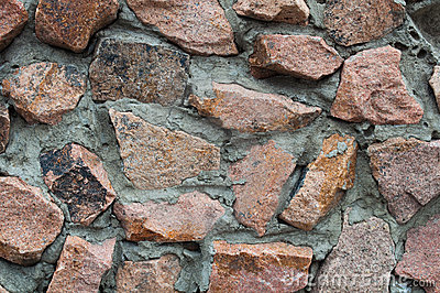 Wall from granite