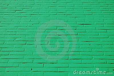 A wall with green bricks