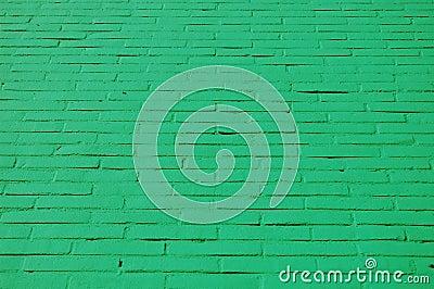 A wall with green bricks