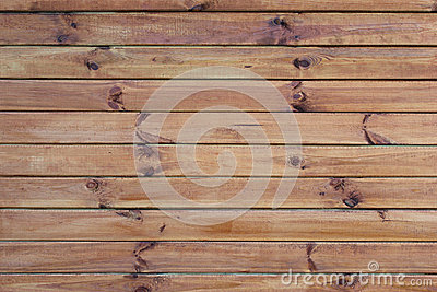 Wall with horizontal boards