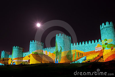 Wall Illustration And Painting Stock Image - Image: 21065671