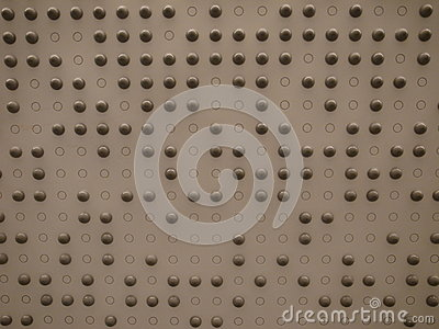 A wall with little spheres