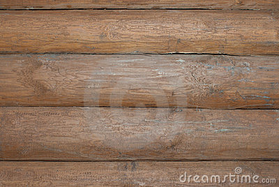 Wall of log cabin