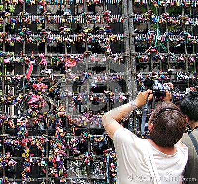 Wall of love in Verona Editorial Photo