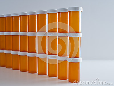 Wall of Medicine Bottles