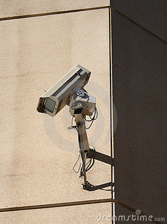Wall mounted CCTV camera