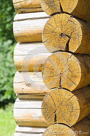 Free Wall Of A Rural Log House Royalty Free Stock Photo - 57441325