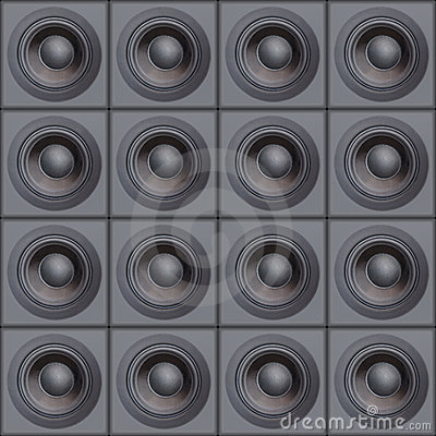 Free Wall Of Speakers Stock Photography - 1083912