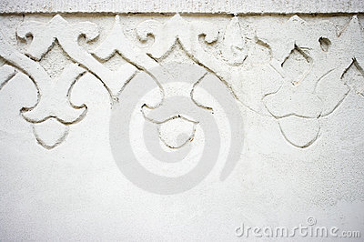 Wall with ornament