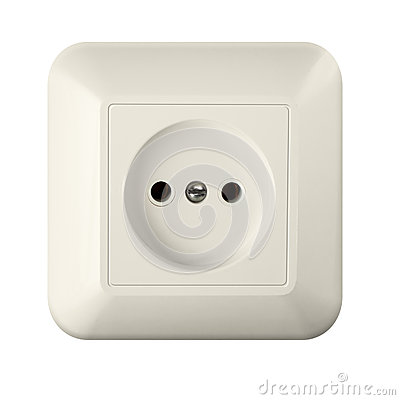 Wall outlet isolated with clipping path