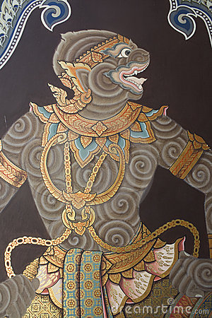 Free Wall Painting In Thai Style Stock Photography - 15151642