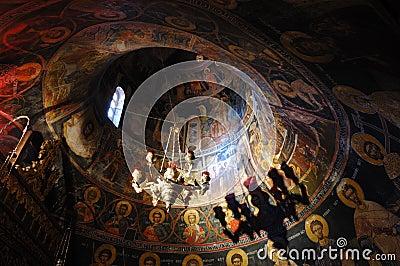 Wall paintings at Holy Trinity rock monastery
