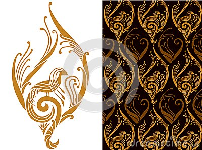 Wall paper pattern