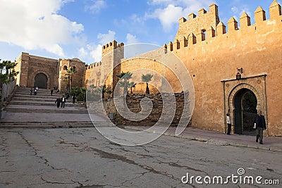Wall in Rabat, Morocco Editorial Photo